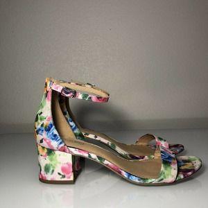 Rare Floral Chunky Heels Brash women 8.5